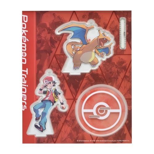 アクリルスタンドキーホルダー Pokémon Trainers レッド&リザードン ...