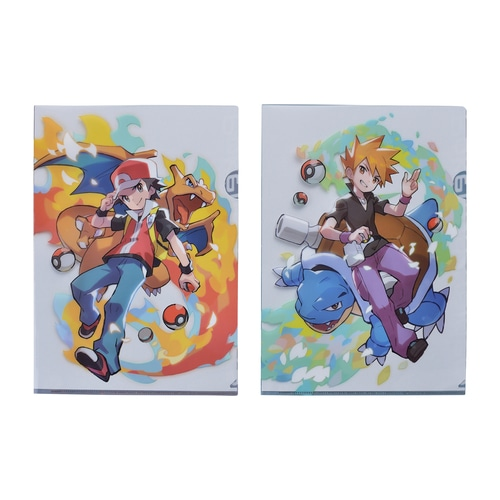 A4クリアファイル2枚セット Pokémon Trainers レッド&グリーン ...