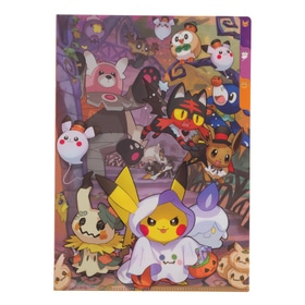 A4 3ポケットクリアファイル Pokemon Halloween Time