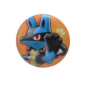 LUCARIO with YOU 缶バッジ いつも おうえん ありがとう