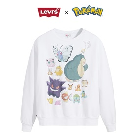 POKEMON UNISEX CREW POKEMON DANCE PARTY WHITE